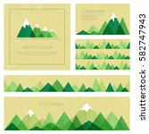 mountains in geometric style.... | Shutterstock .eps vector #582747943
