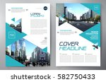 business brochure flyer design. ... | Shutterstock .eps vector #582750433