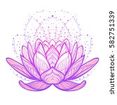 lotus flower. intricate... | Shutterstock .eps vector #582751339
