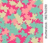 seamless pattern. ragged spots. ... | Shutterstock .eps vector #582761050