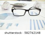 eyeglasses on business and... | Shutterstock . vector #582762148