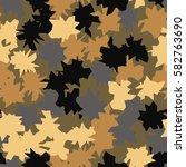 seamless pattern. ragged spots. ... | Shutterstock .eps vector #582763690