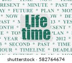 time concept  painted green... | Shutterstock . vector #582764674