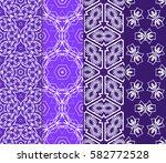 set of geometric seamless... | Shutterstock .eps vector #582772528