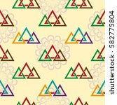endless abstract pattern.... | Shutterstock .eps vector #582775804
