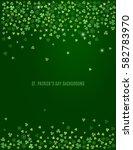 sparkling clover shamrock...   Shutterstock .eps vector #582783970
