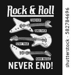 rock festival poster. rock and... | Shutterstock .eps vector #582784696