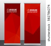 roll up banner stand template... | Shutterstock .eps vector #582786274