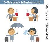 business cartoon avatar set ... | Shutterstock .eps vector #582786706