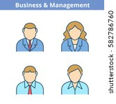 occupations colorful avatar set ... | Shutterstock .eps vector #582786760
