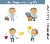 business cartoon avatar set ... | Shutterstock .eps vector #582786904
