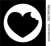 heart icon | Shutterstock .eps vector #582789586