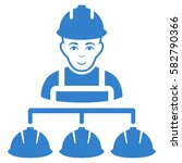 builder management glyph icon.... | Shutterstock . vector #582790366
