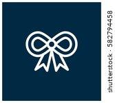 gift ribbon vector icon | Shutterstock .eps vector #582794458