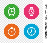mechanical clock time icons.... | Shutterstock .eps vector #582794668