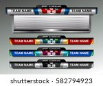 scoreboard broadcast graphic... | Shutterstock .eps vector #582794923