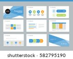 presentation background design... | Shutterstock .eps vector #582795190