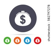 wallet dollar sign icon. cash... | Shutterstock .eps vector #582797278