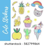 patch  badges  stickers with... | Shutterstock .eps vector #582799864