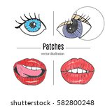 patch badges  embroidery with... | Shutterstock .eps vector #582800248