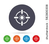 crosshair sign icon. target aim ... | Shutterstock .eps vector #582800308