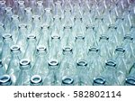 empty glass bottles in factory... | Shutterstock . vector #582802114