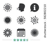 snowflakes artistic icons. air... | Shutterstock .eps vector #582802210