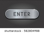 enter metal button on iron... | Shutterstock .eps vector #582804988