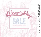 women's day poster  flyer or... | Shutterstock .eps vector #582806446