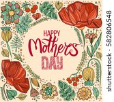happy mothers day greeting card ...   Shutterstock .eps vector #582806548