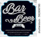bar beer handwritten... | Shutterstock .eps vector #582808780