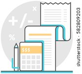 accounting   infographic icon... | Shutterstock .eps vector #582809203