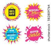 sale splash banner  special... | Shutterstock .eps vector #582809764