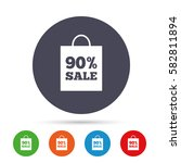 90  sale bag tag sign icon.... | Shutterstock .eps vector #582811894