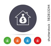 mortgage sign icon. real estate ... | Shutterstock .eps vector #582813244