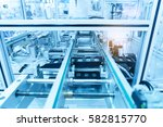 automatic robot in assembly... | Shutterstock . vector #582815770