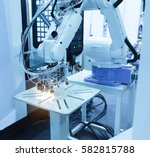automatic robot in assembly... | Shutterstock . vector #582815788