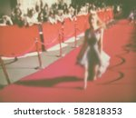blurred image. red carpet...   Shutterstock . vector #582818353