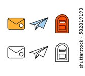 post service symbols set.... | Shutterstock .eps vector #582819193