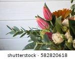 Arrangement Of Flowers Gerbera...