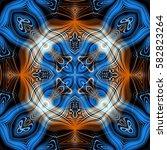 abstract decorative multicolor... | Shutterstock . vector #582823264
