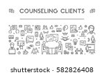 line web banner for counseling... | Shutterstock .eps vector #582826408