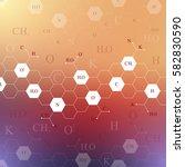 scientific chemistry pattern.... | Shutterstock .eps vector #582830590
