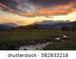 sunset in the north fields ... | Shutterstock . vector #582833218