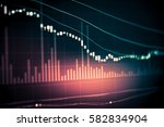 stock market data on led... | Shutterstock . vector #582834904