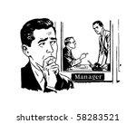 worried man 2   retro clip art | Shutterstock .eps vector #58283521