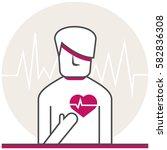heart disease   infographic... | Shutterstock .eps vector #582836308
