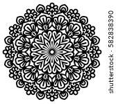 mandala for painting. vector... | Shutterstock .eps vector #582838390