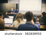 many students are studing in... | Shutterstock . vector #582838903