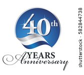 anniversary 40 th years... | Shutterstock .eps vector #582844738